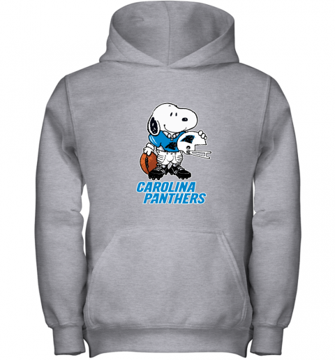Snoopy A Strong And Proud Carolina Panthers Player NFL Youth Hoodie