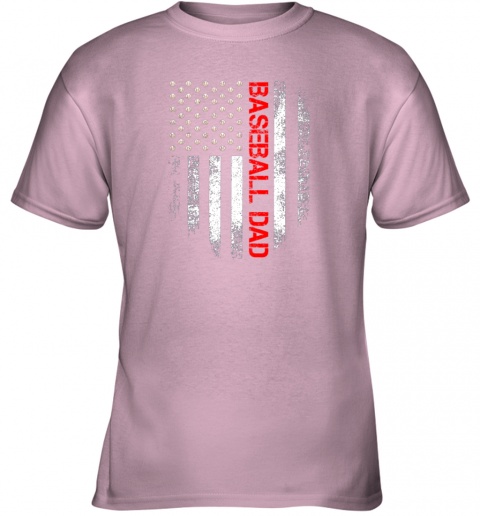 geol vintage usa american flag proud baseball dad player youth t shirt 26 front light pink