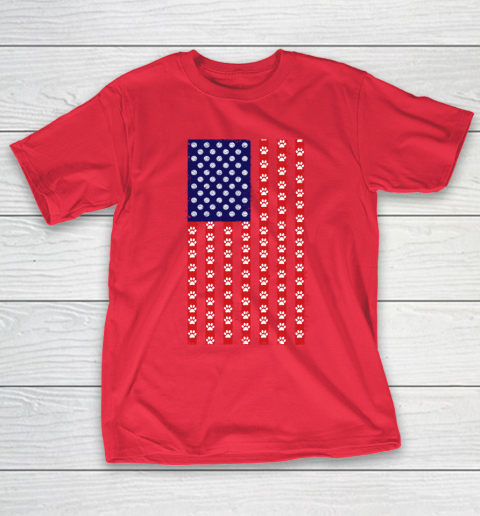 Volleyball Dog Lover American Flag T-Shirt 9