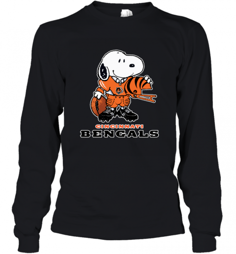 Snoopy A Strong And Proud Cincinnati Bengals NFL Youth Long Sleeve