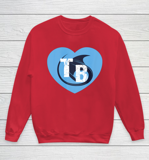 Stingray Love Tampa Bay Vintage TB Cool Tampa Bay Heart Youth Sweatshirt 9