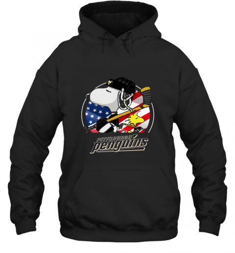Pittsburg Peguins  Snoopy And Woodstock NHL Hoodie