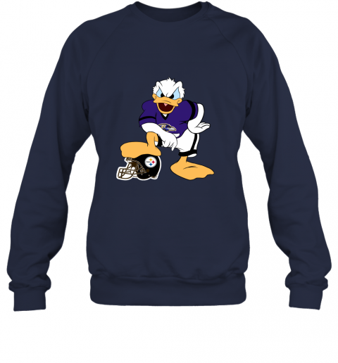 sflm you cannot win against the donald baltimore ravens nfl sweatshirt 35 front navy