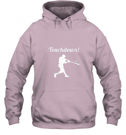r7r3 touchdown funny baseball hoodie 23 front light pink