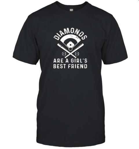 Diamonds are a Girl's Best Friend Baseball Unisex Jersey Tee