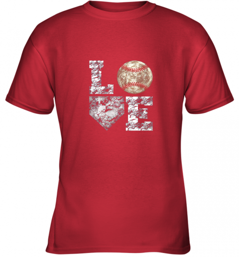 g0s0 baseball distressed ball cute dad mom love gift youth t shirt 26 front red