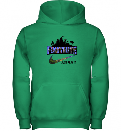 FORTNITE - JUST PLAY IT NIKE LOGO F Youth Hoodie