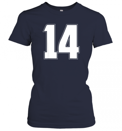 zkci halloween group costume 14 sport jersey number 14 14th bday ladies t shirt 20 front navy