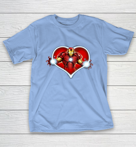 Marvel Iron Man Heart Blaster Glow Valentine Graphic T-Shirt 10