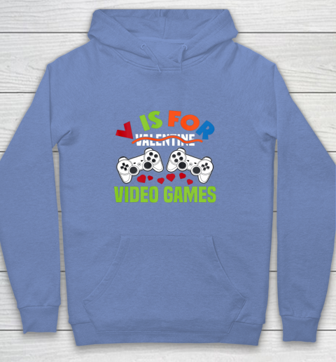 Funny Video Games Lover Valentine Day Youth Hoodie 8
