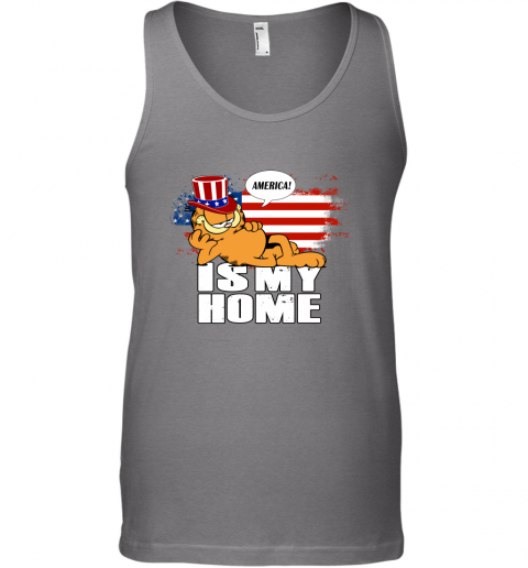 America Is My Home Garfield Independence Day 4th Of July Tank Top