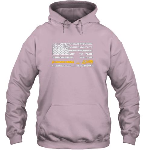 st6a softball catcher shirts baseball catcher american flag hoodie 23 front light pink