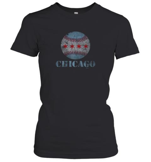 Vintage Chicago Baseball Flag Women's T-Shirt