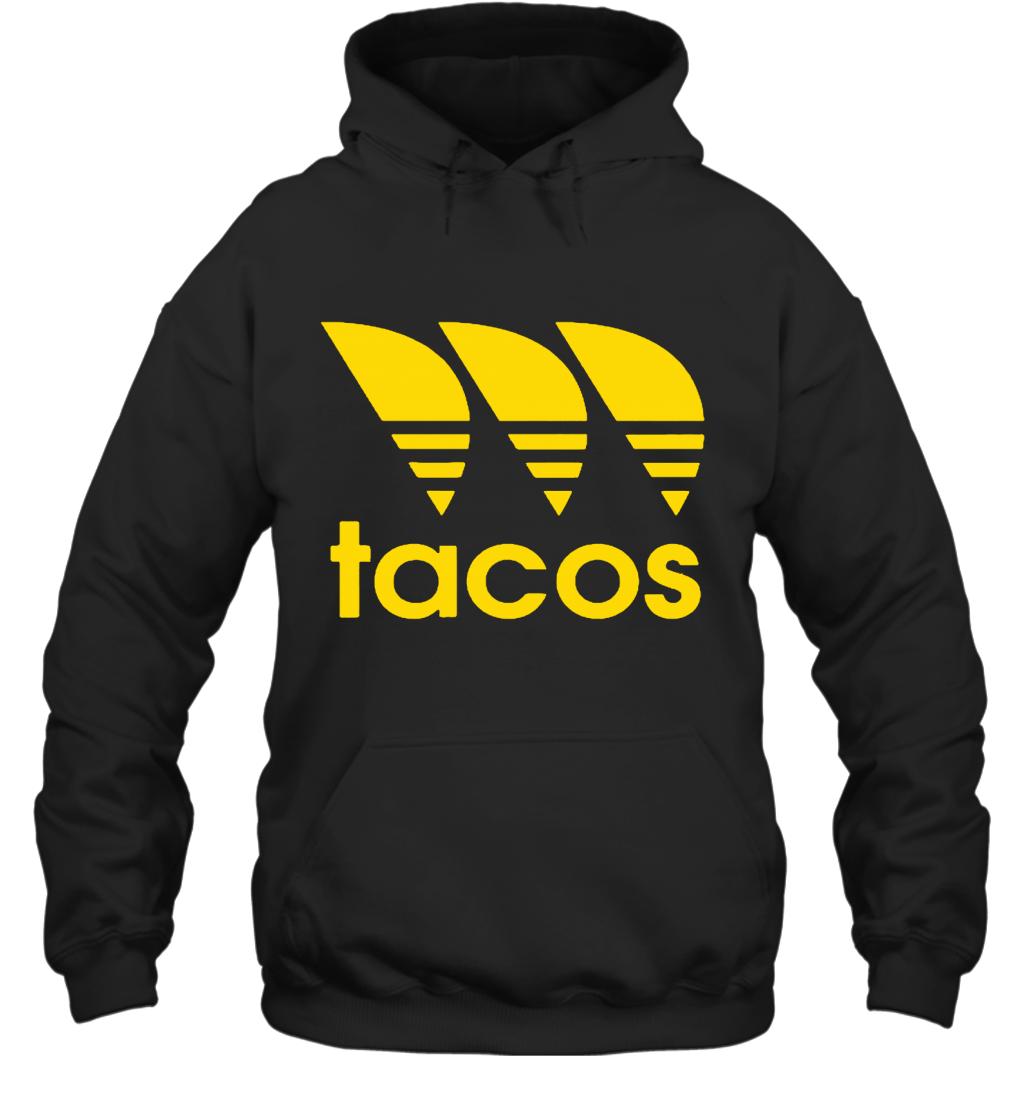 Three Stripe Tacos Funny Taco Adidas Logo Mashup Hoodie