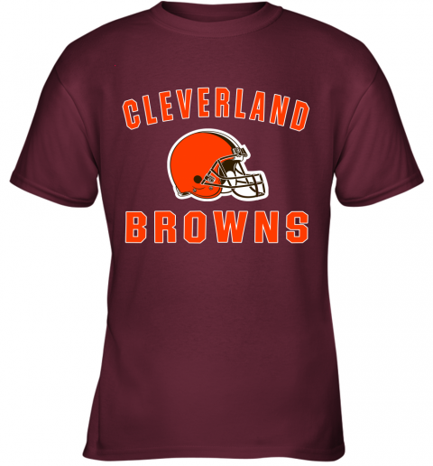 ab4y cleveland browns nfl line by fanatics branded brown victory youth t shirt 26 front maroon