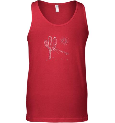 1les cactus baseball bat image shirt for america39 s pastime fan unisex tank 17 front red
