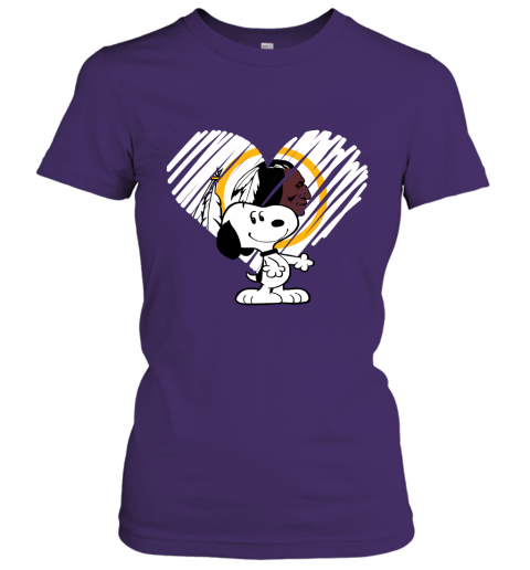qpei i love snoopy washington redskins in my heart nfl ladies t shirt 20 front purple