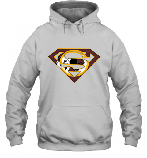 67kt we are undefeatable the washington redskins x superman nfl hoodie 23 front white