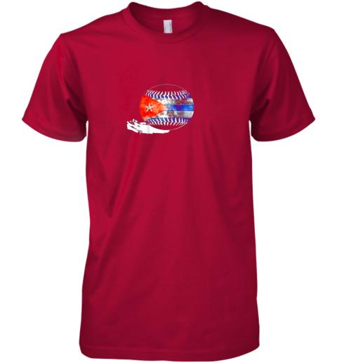 pqup vintage baseball cuba flag shirt cuban pride premium guys tee 5 front red