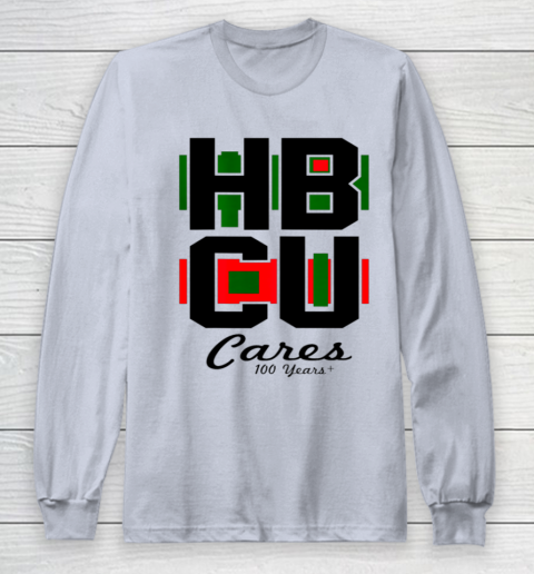 HBCU Cares College University Graduation Gift Black School Long Sleeve T-Shirt 4