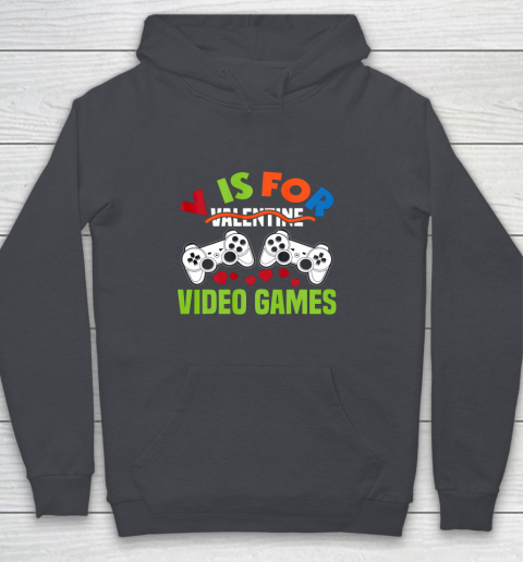 Funny Video Games Lover Valentine Day Youth Hoodie 5