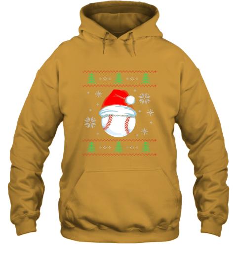 vz0w ugly christmas baseball shirt boys kids ball santa pajama hoodie 23 front gold