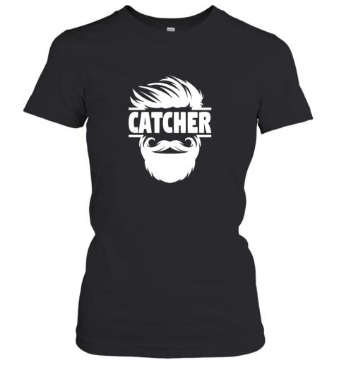 Bearded Baseball Catcher Women's T-Shirt