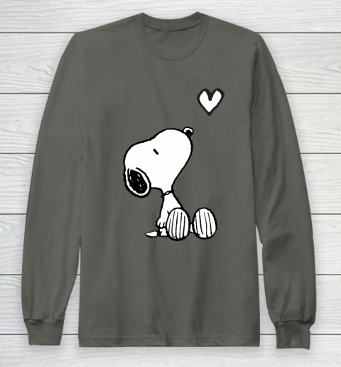 Peanuts Valentine Snoopy Heart Long Sleeve T-Shirt 5
