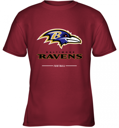 rsqv mens baltimore ravens nfl pro line black team lockup t shirt youth t shirt 26 front cardinal
