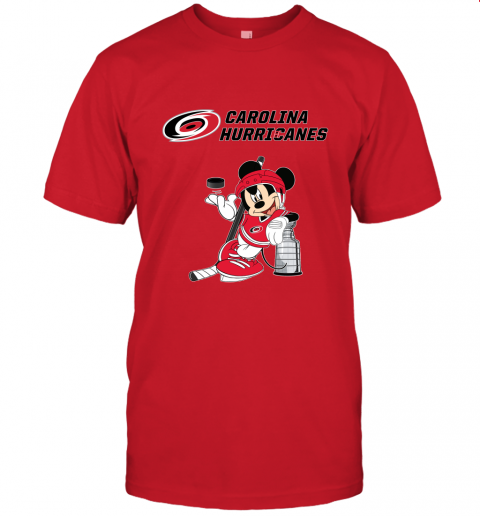 lo8o mickey carolina hurricanes with the stanley cup hockey nhl jersey t shirt 60 front red