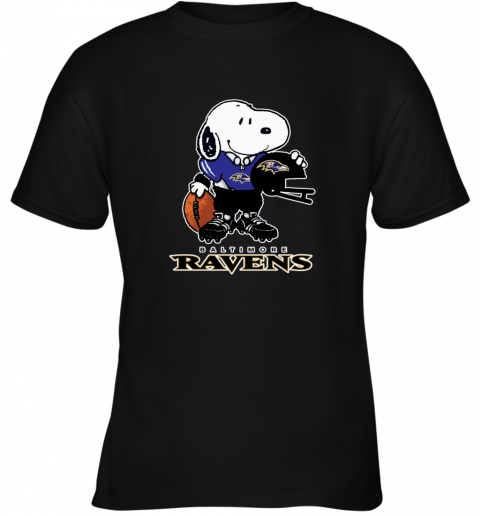 Snoopy A Strong And Proud Baltimore Ravens NFL Youth T-Shirt
