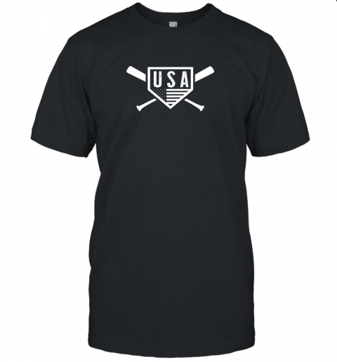 Vintage American Baseball and Softball USA Flag Unisex Jersey Tee