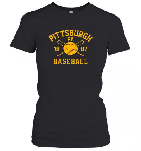 Vintage Pittsburgh Baseball Pennsylvania Pirate Retro Gift Women's T-Shirt