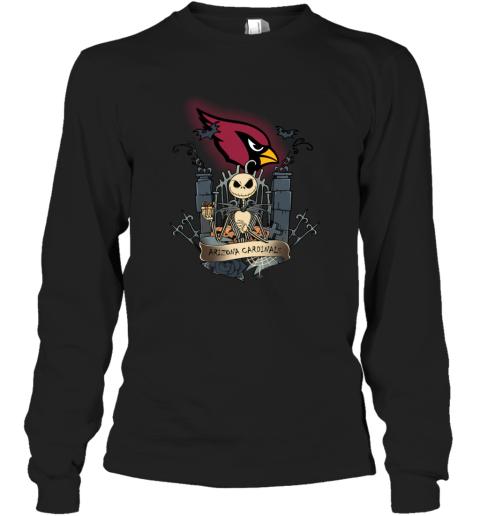 Arizona Cardinals Jack Skellington This Is Halloween NFL Long Sleeve T-Shirt