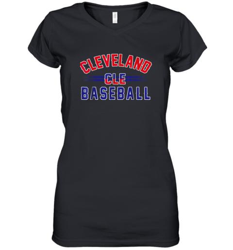 Cleveland CLE Baseball Women's V-Neck T-Shirt