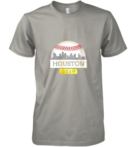 y1xb houston baseball shirt 2019 astro skyline on giant ball premium guys tee 5 front light grey