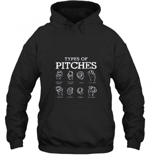 Types Of Pitches Softball Baseball Team Sport Hoodie