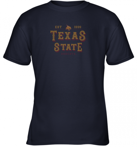 slqo texas state bobcats womens college ncaa youth t shirt 26 front navy