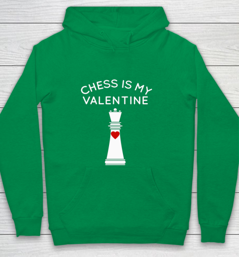 Chess Is My Valentine Youth Hoodie 4