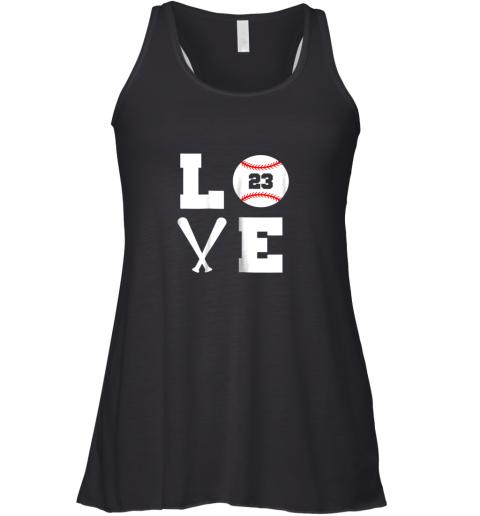 I Love Baseball Player Number #23 Gift Shirt Racerback Tank