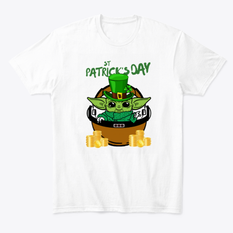 Baby Yoda In St. Patrick's Day Outfit T-Shirt