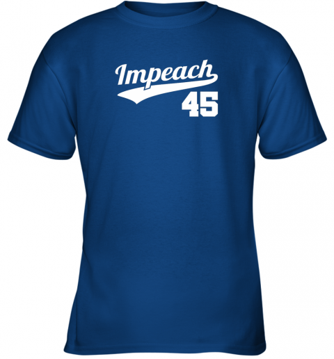 v46i impeach donald trump 45 baseball logo youth t shirt 26 front royal