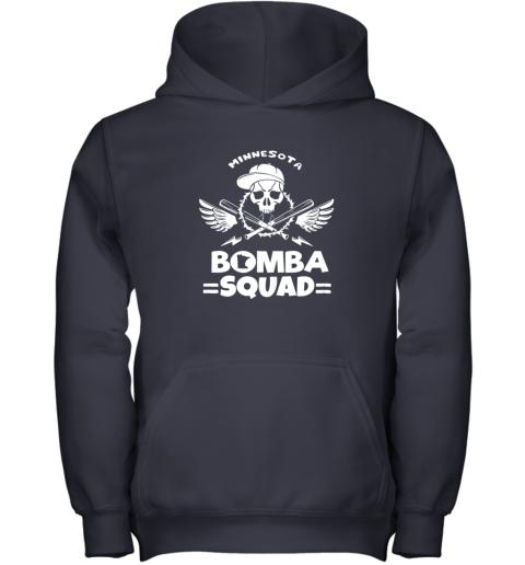 imaz bomba squad twins shirt minnesota baseball men bomba squad youth hoodie 43 front navy
