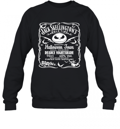 Jack Skellington Mold Time Quality Halloween Town Soul Mashed Deadly Nightshade Sweatshirt
