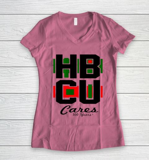 HBCU Cares College University Graduation Gift Black School Women's V-Neck T-Shirt 7