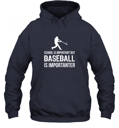 wmpu school is important but baseball is importanter gift hoodie 23 front navy