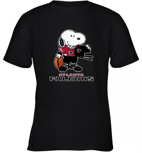 Snoopy A Strong And Proud Atlanta Falcons NFL Youth T-Shirt
