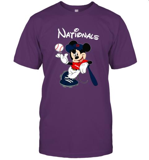 n9zi baseball mickey team washington nationals jersey t shirt 60 front team purple