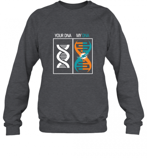 7mvr my dna is the miami dolphins football nfl sweatshirt 35 front dark heather