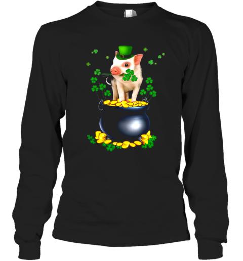 Pig Irish Shirt Long Sleeve T-Shirt
